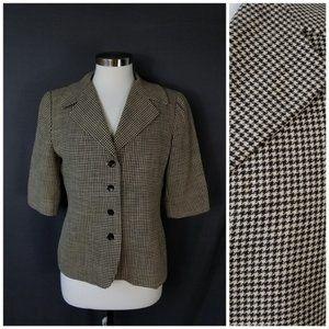 Ellen Tracy Short Sleeve Blazer